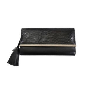 Payless Classic Black Snakeskin Clutch